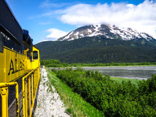 View From The Train In Alaska
