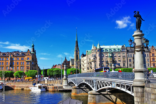 Foto op Aluminium Stockholm scenic canals of Stocholm , Sweeden