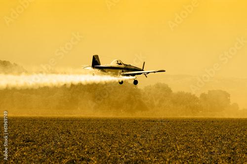 Fotografie, Obraz  Crop Duster Silhouette