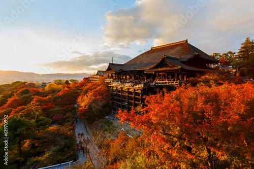 Garden Poster Brown Kiyomizu-dera temple in Kyoto