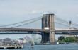 Magnificent structure of Brooklyn Bridge, New York Symbol