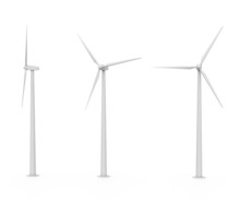 Set Of Three Various Wind Turb...