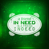 Friend indeed