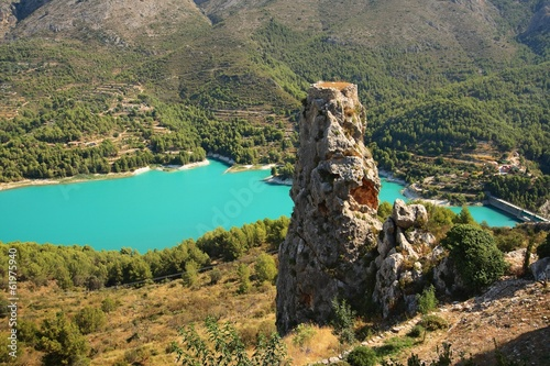 landscape around the reservoir of Guadelest
