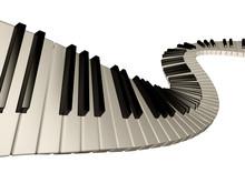 Amazing Piano Keys. Isolated.