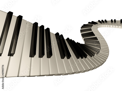Naklejka na szafę Trójwymiarowe klawisze pianina