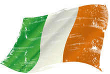 Irish Grunge Flag