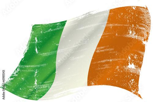 Irish grunge flag Poster
