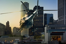 Helicopter Flying Manhattan So...