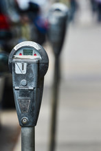 Gray Parking Meter In Use In L...