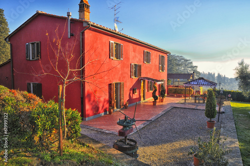 Agriturismo in Toscana Canvas Print