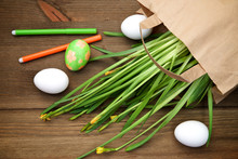 Easter Eggs And Daffodils Penc...