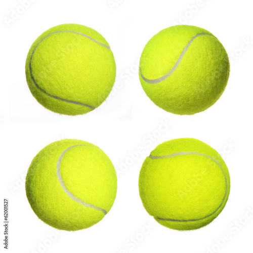 Obraz na plátně Tennis Ball Collection isolated on white background. Closeup