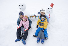 Snowman And Family