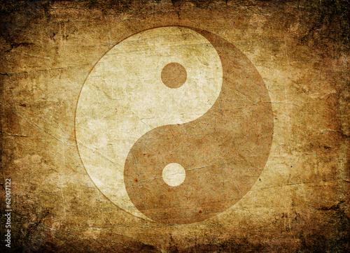 Yin Yang symbol Fototapet