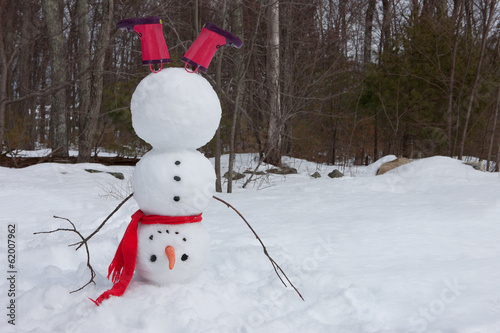 Photo  Snowman headstand