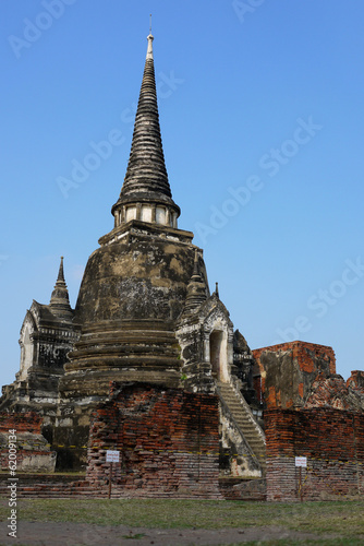Spoed Foto op Canvas Bedehuis Ancient pagoda at Wat phra sri sanphet temple, Ayutthaya, Thaila