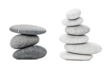 Two Piles Of Sea Stones