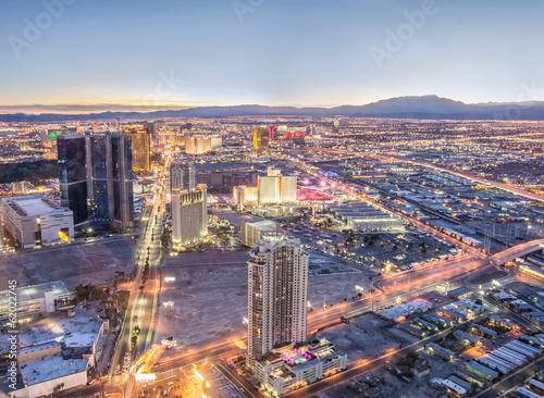 Photo sur Toile Las Vegas Las Vegas cityscape