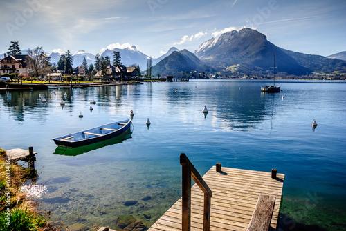 Lac d'Annecy rive est Canvas Print