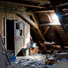 Old Dusty Attic - Granary With Broken Furniture
