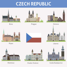 Czech Republic. Symbols Of Cit...