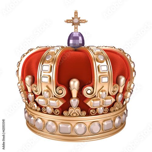 Foto  Königliche Krone - weißer Hintergrund
