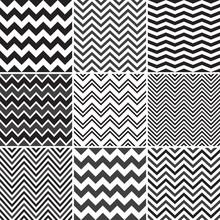Black Chevron Seamless Patterns