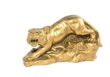 Gold Tiger Statue