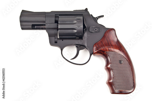 Canvas Print revolver on white