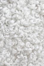 White Sheepskin Background