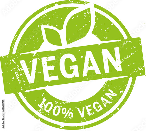Button 100% Vegan Fototapet
