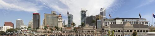 Kuala Lumpur Skyline from Merdeka Square Panorama
