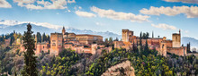 Famous Alhambra In Granada, An...