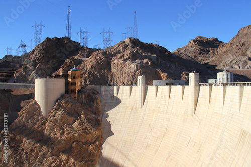 Recess Fitting Dam View of the Hoover Dam in Nevada