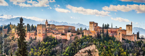 Canvastavla  Famous Alhambra in Granada, Andalusia, Spain
