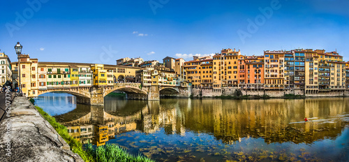Fototapeta  Ponte Vecchio with river Arno at sunset in Florence, Italy