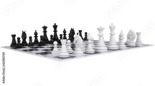 Chess on the chessboard Fototapeta