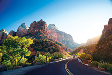 A Stunning View Of Zion Canyon