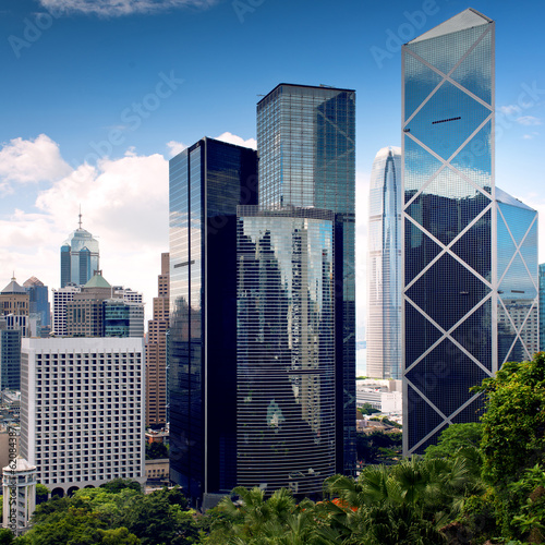 Vászonkép  Hong Kong City center skyscrapers