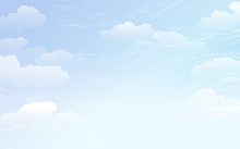 空 青空 雲 Spreading Blue Sky Background