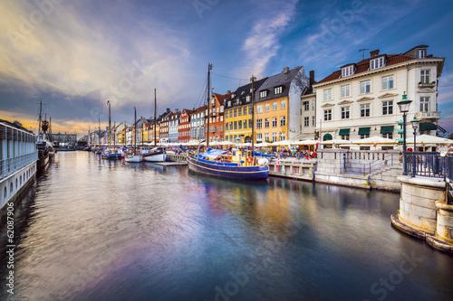 obraz lub plakat Kopenhaga, Dania na Kanał Nyhavn