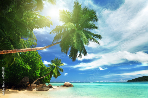 Fototapeta beach on Mahe island, Seychelles