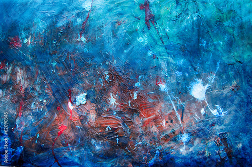 Abstrakte Kunst Gemälde Ölgemälde Kunstdruck blau