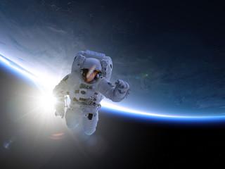 Fototapeta astronauta w przestrzeni kosmicznej