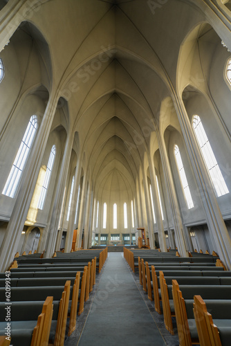 Fotografija  Hallgrimskirkja Cathedral in Reykjavik , Iceland