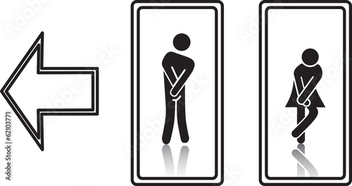 Pinturas sobre lienzo  funny wc sign. fully editable vector, eps10