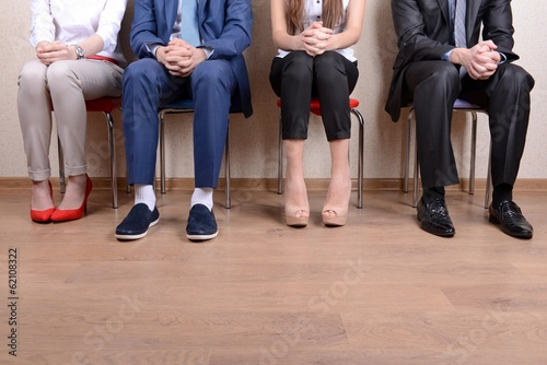 Fotografie, Obraz  Business people waiting for job interview