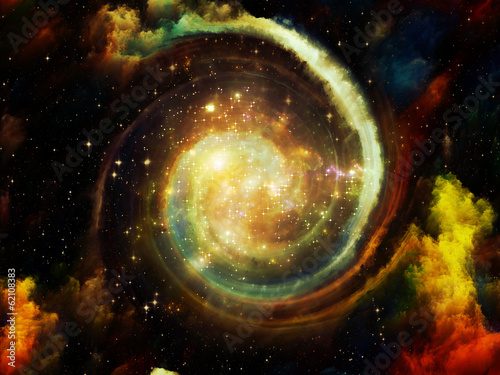 Virtual Ring Nebula Canvas Print