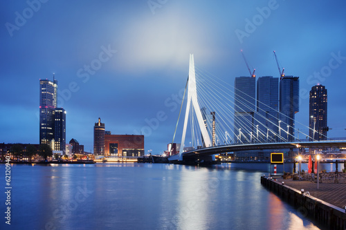 Foto op Canvas Rotterdam City of Rotterdam at Night